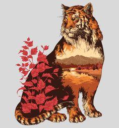 Esta série de ilustrações retrata 3 personagens: Altay Peregrine, Amur Tiger e Brown Taiga Bear.