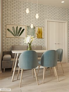 dining table in the kitchen with soft chairs d .- обеденный стол на кухне с мягкими стульями d… dining table in the kitchen with soft chairs - Farmhouse Living Room Furniture, Dining Furniture, Living Room Interior, Kitchen Interior, Outdoor Furniture, Pallet Furniture Bar, Pintura Exterior, Soft Chair, Sofa Home