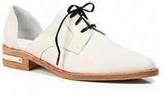 2ac40f4f21d2 Womans Ivory Oxford Flats  Jeansoxfordshoes Flade Sko