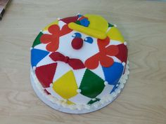 Clown cake for Purim or birthdays.  Such a fun and yummy cake
