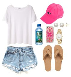"""""""Untitled #75"""" by valerienwashington ❤ liked on Polyvore featuring Vineyard Vines, Rainbow, T By Alexander Wang, Kate Spade, Honora and Casetify"""