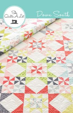 Down South is a fat quarter friendly quilt pattern. It looks great in a variety of fat quarters and also in a two colour version. Finished Block...