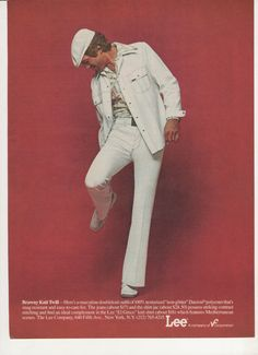 vintage everyday: Lee Jeans, Beautiful Adverts for the Leisure Suit from the 70s Fashion Men, Bad Fashion, Retro Fashion, Vintage Fashion, Fashion Outfits, Fashion History, Vintage Style, Lee Jeans, Jeans Pants