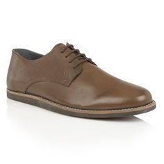 Frank Wright Trinder Mens Lace-Up Shoes, Black Leather