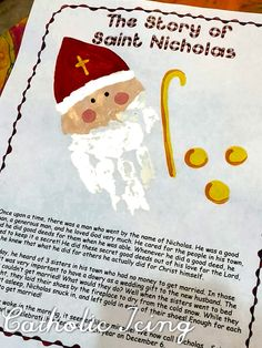 Nicholas day- this is the ultimate list for St. Nicholas' feast day and it's everything you need! Shoe stuffing ideas, crafts, activities, tradtions, and more! Who Is St Nicholas, Saint Nicholas, Catholic Crafts, Catholic Kids, Kids Christmas, Christmas Activites, Retro Christmas, Christmas Christmas, Xmas