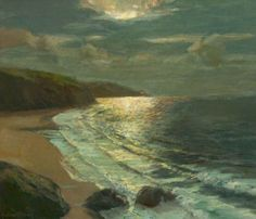 summerlilac:Moonlight on the Coast, Albert Julius Olsson