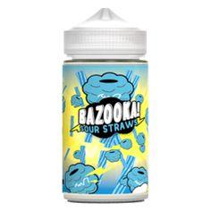 Blue Raspberry Sour Straws - Bazooka Sour Straws E Liquid #vape #vaping #eliquid