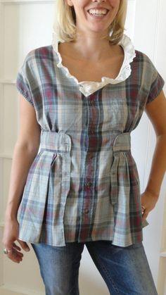 Button Up Shirt Refashion: A RoundUp! : Serger Pepper