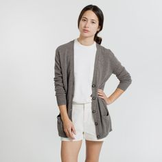 The Slouchy Cardigan - Taupe – Everlane – Everlane