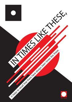 Typography study: Constructivism / Konstruktivism