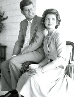 John and Jackie in Hyannis Port, two days before their wedding.