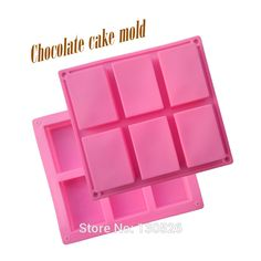 1pc 6 Cavities 3D Handmade Rectangle Square Silicone Soap Mold Chocolate Cookies Mould Cake Decorating Silicone Fondant Molds