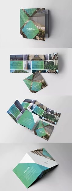 Moderno Square Trifold Brochure Template InDesign INDD