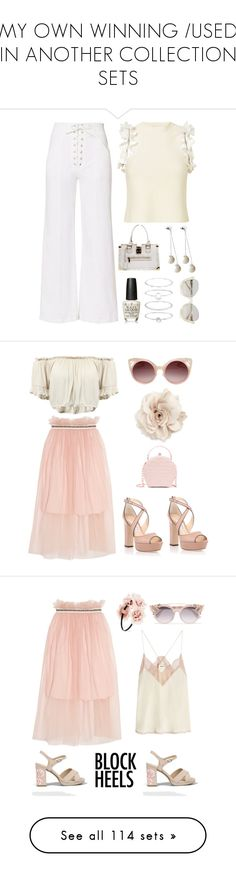 """MY OWN WINNING /USED IN ANOTHER COLLECTION SETS"" by im-karla-with-a-k ❤ liked on Polyvore featuring A.L.C., 3.1 Phillip Lim, OPI, Accessorize, Louis Vuitton, Pink Box, Mother of Pearl, Cara, WithChic and Jimmy Choo"