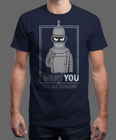"""""""I Want You!"""" is today's £8/€10/$12 tee for 24 hours only on www.Qwertee.com Pin this for a chance to win a FREE TEE this weekend. Follow us on pinterest.com/qwertee for a second! Thanks:)"""