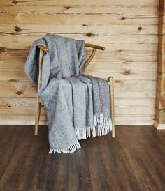 Natural New wool throw,blanket,bedspread from Nord DECO by DaWanda.com