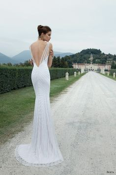 berta-winter-2014-sleeveles-sheath-wedding-dress.jpg (500×750). SO gorgeous