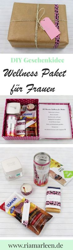 Schöne DIY Geschenkidee für Frauen: Wellness Paket DIY gift idea for Mother's Day, birthday or as a little attention: wellness package for women.de for the detailed instructions. Diy Gifts For Friends, Gifts For Kids, Gifts For Women, Diy Birthday, Birthday Gifts, Wallpaper World, Farewell Gifts, Diy Presents, Last Minute Gifts