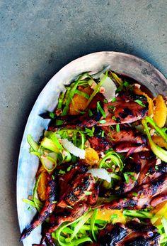 Michael Symon's Grilled Quail with Citrus Glaze Recipe