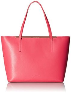 459bbb8e74602c Ted Baker Neylan Crosshatch Shopper with Pouch Tote Bag Red One Size