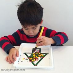 Sprinkles Challenge * ages ⋆ Raising Dragons A fun holiday fine motor activity for preschoolers! Get all the sprinkles inside the Christmas tree using a paintbrush. Holiday Fine Motor Activities, Fun Activities For Preschoolers, Preschool Learning Activities, Infant Activities, Preschool Activities, Teaching Kids, Kids Education, Kids Playing, Crafts For Kids