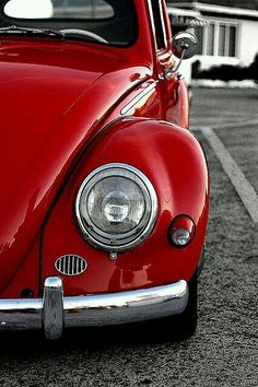 Volkswagen – One Stop Classic Car News & Tips Aesthetic Colors, Aesthetic Pictures, Red Beetle, Beetle Bug, Vw Vintage, Red Pictures, Red Images, Red Wallpaper, Vw T1