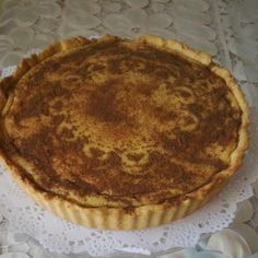 Traditional South African Milk tart (melktert)