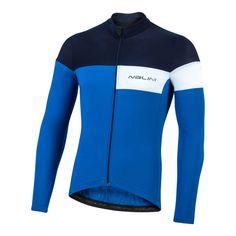2020 Nalini CORSA Long Sleeve Jersey - Blue – Nalini USA 4 Way Stretch Fabric, Range Of Motion, Soft Fabrics, Usa, Long Sleeve, Sleeves, Swimwear, Blue, Shopping