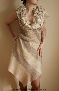 """Платья ручной работы. Ярмарка Мастеров - ручная работа. Купить Платье  """"Песчаные реки"""" художественный войлок. Handmade. Красивое платье"""