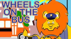 Wheels on the Bus Animals Cartoon Rhyme Song for Children and Kids. Funny The Lion King Ride, Nursery Rhymes for Kids, Children love to sing and dance to the nursery rhymes.