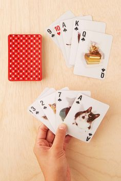for the cat lady friends - 3-D Cat Playing Card Set