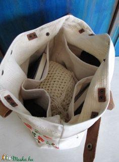 17-V. Hímzett táska/antik vászonhímzés táska/eredeti kézzel hímzett vászon táska/újrahasznosított vászonhímzés (HarmonicStyle) - Meska.hu
