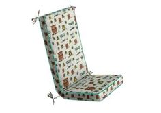 """Made a custom rocking chair cushion because i'm sick of shopping for glider/rockers for the nursery and i have an antique rocker i could use if I make it comfy enough using fabric """"hootyvent"""""""