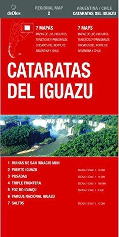 Cataratas del Iguazú mapa de carreteras. Varias escalas. De Dios Editores. (Regional Map)