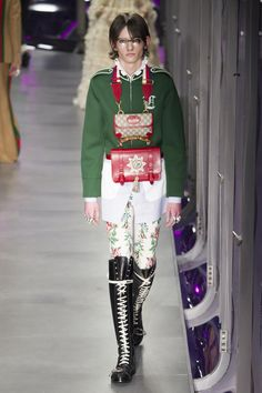 A look from the Gucci fall 2017 collection. Photo: Imaxtree.