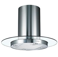 Cookology TUB900GL 90cm Round Glass U0026 Stainless Steel Tubular Island Kitchen  Extractor Fan / Chimney Cooker