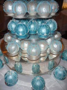 Bauble wedding cakes By franziska on CakeCentral.com--WOAH