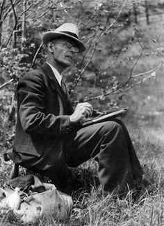 "ehoradote: "" Hermann Hesse, the painter "" Hermann Hesse, Michel De Montaigne, Max Ernst, Grimm, Hans Thoma, George Grosz, Nobel Prize In Literature, Johann Wolfgang Von Goethe, Writers And Poets"