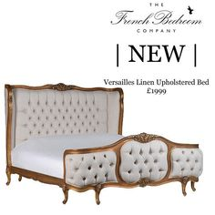 NEW & In Stock! Our fabulous new Versailles Linen Upholstered Bed - make a statement in your boudoir this Autumn with our delightful new addition. #frenchbedroomcompany #bedroomgoals #bedroom #new #bed #instock