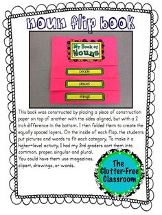 Clutter-Free Classroom: How I Made Nouns Fun...