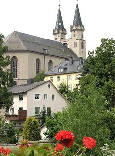 St. Michaliskirche, Hof, Bavaria --- where my Vogel family went to church from 1700's to 1850's.