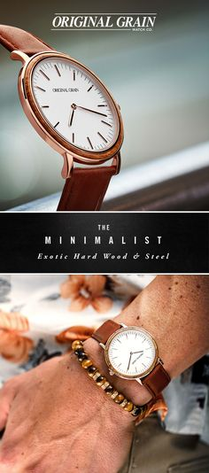 The perfect combination of exotic wood and stainless steel, this is not just another Minimalist. Elegant and sophisticated watches starting at $149 with Free Shipping.