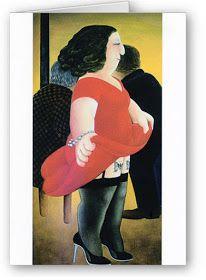 I don't know what I think about Beryl Cook. Beryl Cook, Plus Size Art, Comic Art Girls, Australian Painters, British Schools, British Seaside, Dirty Dancing, Ladies Night, Fernando Botero