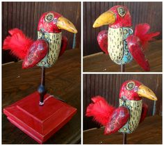 Dream  Rustic Clay Bird Sculpture by SparrowsJourney on Etsy