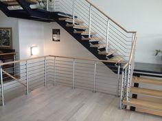 Modern stair railing.