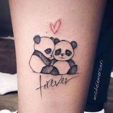 101 Amazing Panda Tattoo Ideas You Need To See! Black Ink Tattoos, Up Tattoos, Mini Tattoos, Cool Tattoos, Henna Tattoo Designs Simple, Small Tattoo Designs, Small Girl Tattoos, Tattoos For Women Small, Panda Bear Tattoos