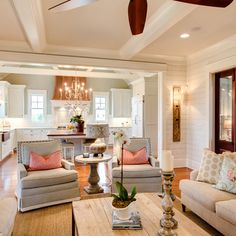 Daniel Island - traditional - family room - charleston - JacksonBuilt Custom Homes