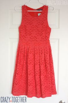 I love EVERYTHING about this coral BRIXON IVY Nickole Sleeveless Lace Fit & Flare Dress from Stitch Fix #stitchfix #fashion #lace