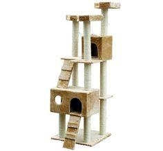 "Pawhut 71"" Cat Tree Condo Pet Scratcher Furniture - Beige Pawhut http://smile.amazon.com/dp/B0089F0UJO/ref=cm_sw_r_pi_dp_svDStb1DZ3F4A06Q"