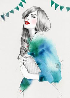 Esra Roise fashion illustrations Esra is a Norwegian freelance illustrator based in Oslo. Esra received a BA in Visual Communication at the Academy of The Arts in Oslo. Art And Illustration, Arte Fashion, Sketch Fashion, Freelance Illustrator, Art Design, Painting & Drawing, Artist Painting, Illustrators, Art Photography